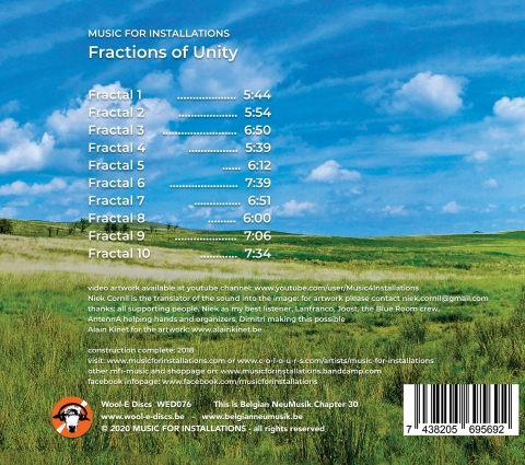 Music For Installations - Fractions Of Unity - album back